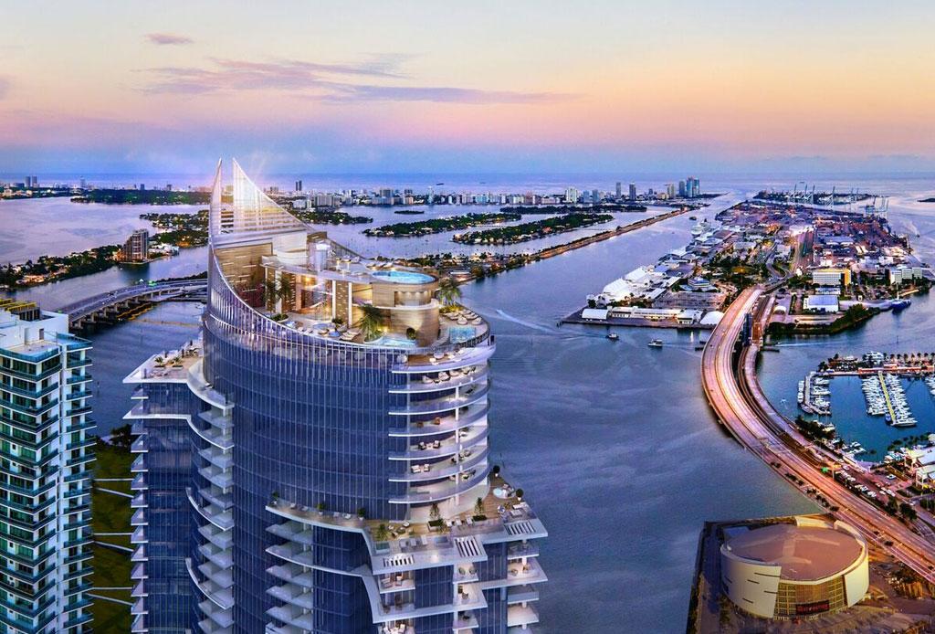 Esta torre residencial en Miami se prepara para los autos voladores del futuro