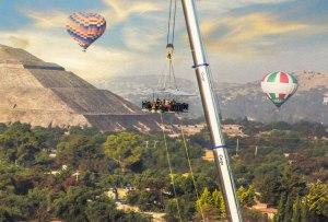 Aún estás a tiempo de vivir la temporada de 'Dinner in the Sky' en Teotihuacán