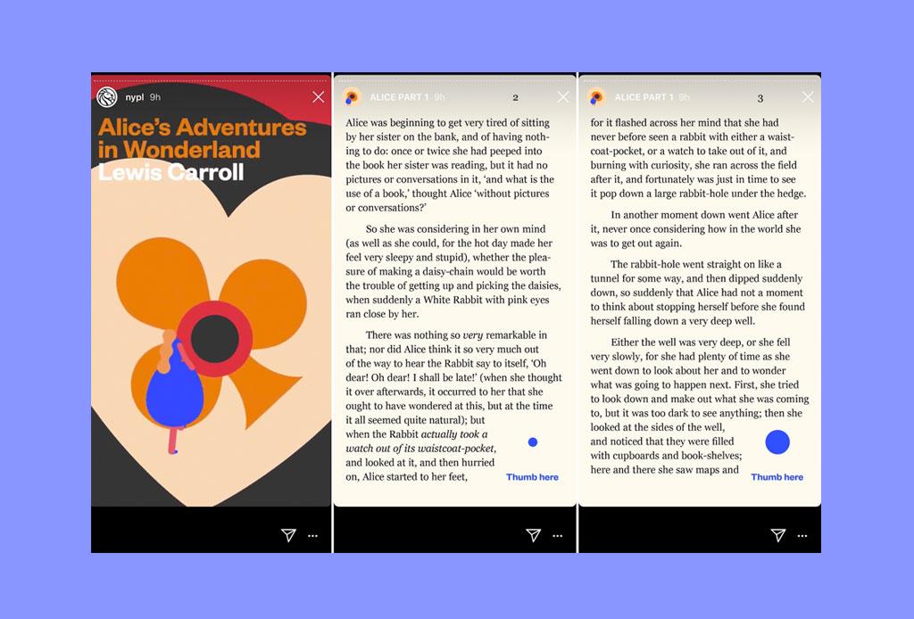Ahora podrás leer novelas completas ¡en Instagram Stories! - novelas-instagram-nueva-york-libreria