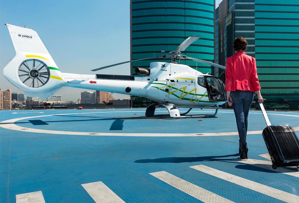 Ya hay una app para transportarte en helicóptero sobre la CDMX