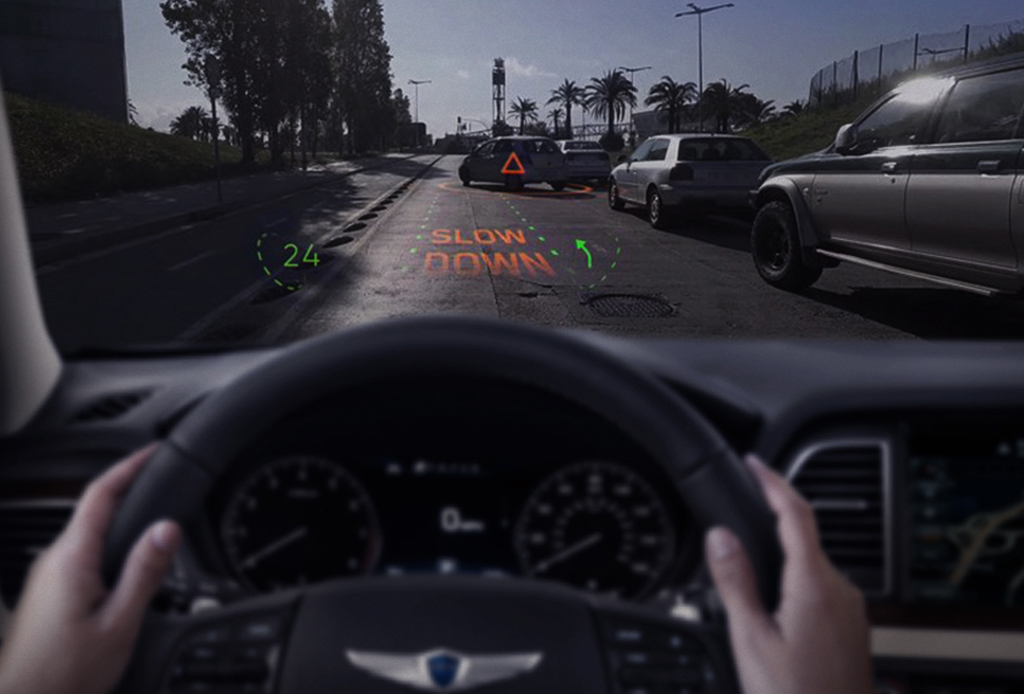 Muy pronto podrás manejar con un sistema de realidad aumentada - hyundai-realidad-aumentada-3