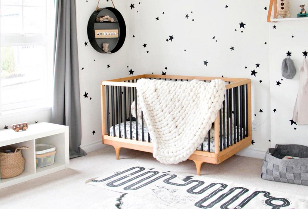 Te decimos cómo agregar el color negro en la decoración de habitaciones infantiles, ¡es una tendencia!