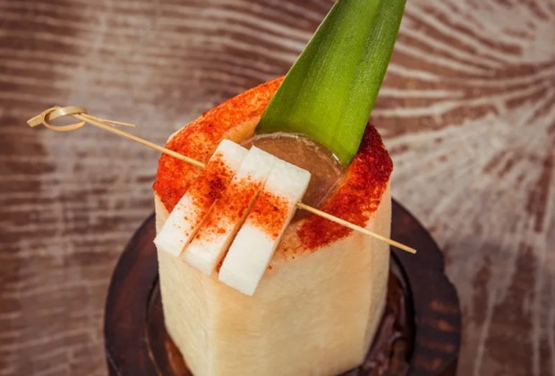 Frescos y deliciosos cocteles que puedes servir en tus frutas favoritas - receta-xicama-coctel