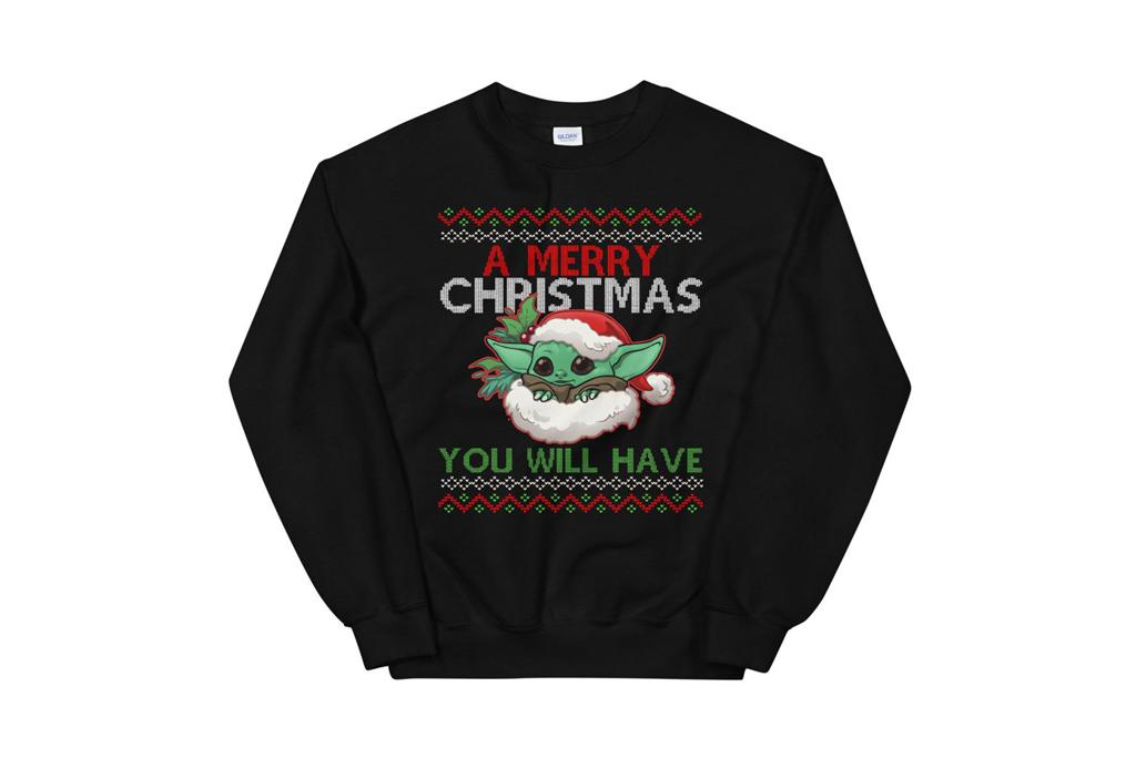 Checa estos ugly sweaters para regalar esta Navidad - ugly-sweater-baby-yoda-2