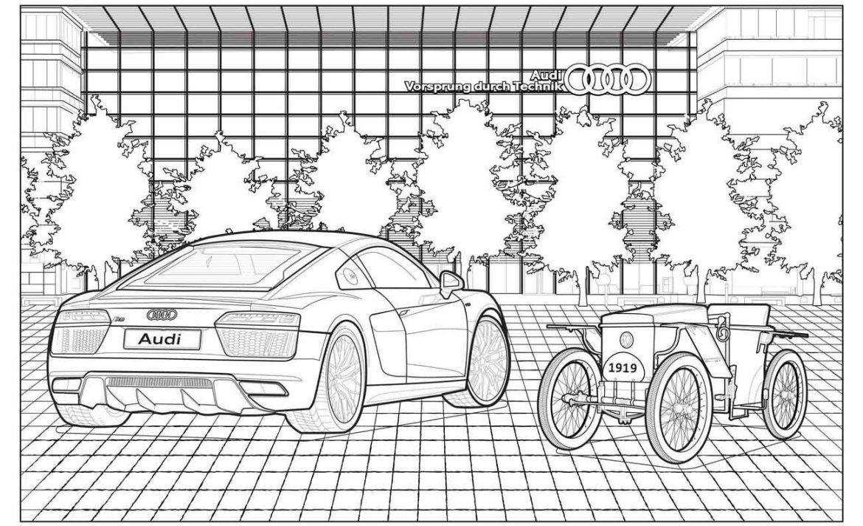 Mercedes-Benz, Audi y Callum tienen libros para colorear de autos que chicos y grandes van a querer ¡ya! - aundi-carros