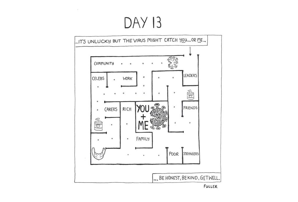 Esto es lo que pasó cuando un artista de mapas estuvo en cuarentena - gareth-fuller-14
