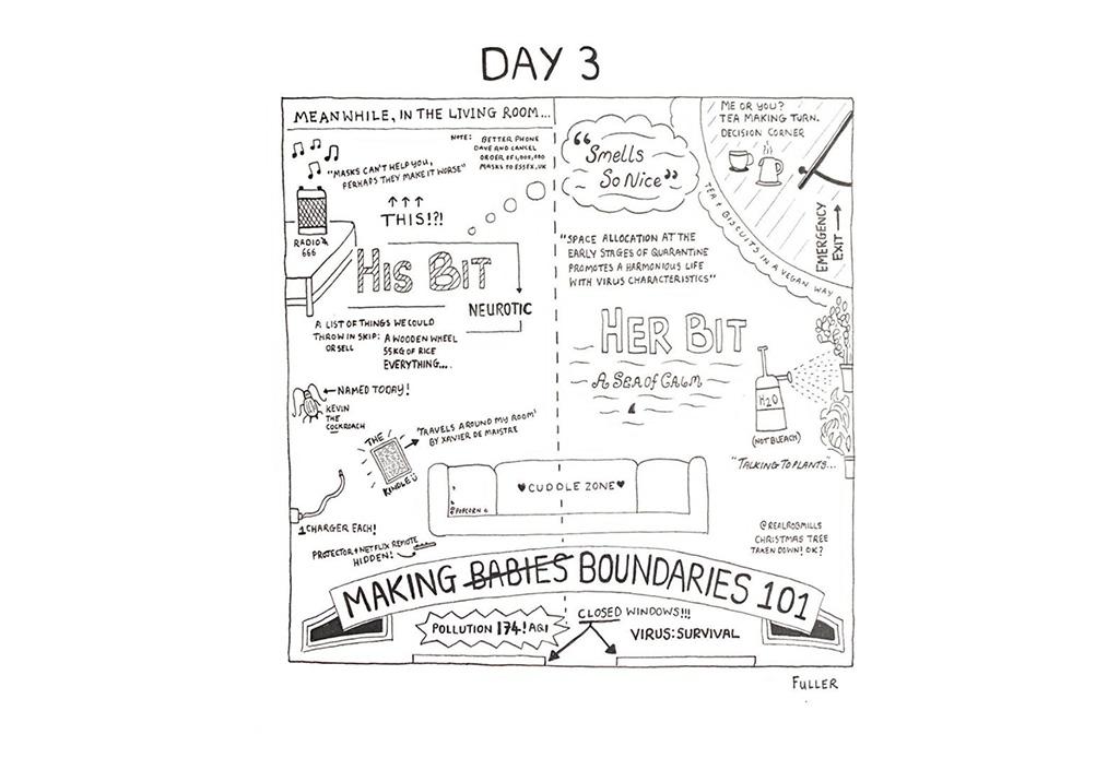 Esto es lo que pasó cuando un artista de mapas estuvo en cuarentena - gareth-fuller-4