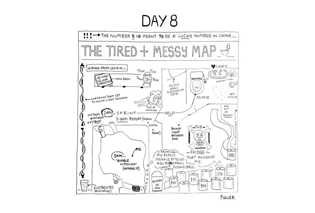 Esto es lo que pasó cuando un artista de mapas estuvo en cuarentena - gareth-fuller-9