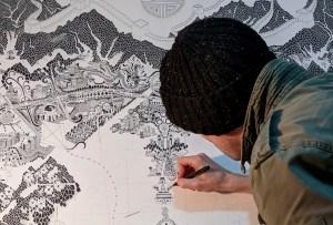 Esto es lo que pasó cuando un artista de mapas estuvo en cuarentena