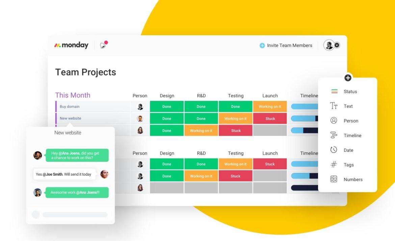 Plataformas en línea para hacer home office de manera eficaz - monday-plataformas-home-office