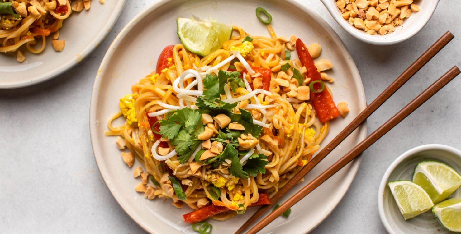 Pad Thai Vegano en casa, ¡en menos de 30 minutos!
