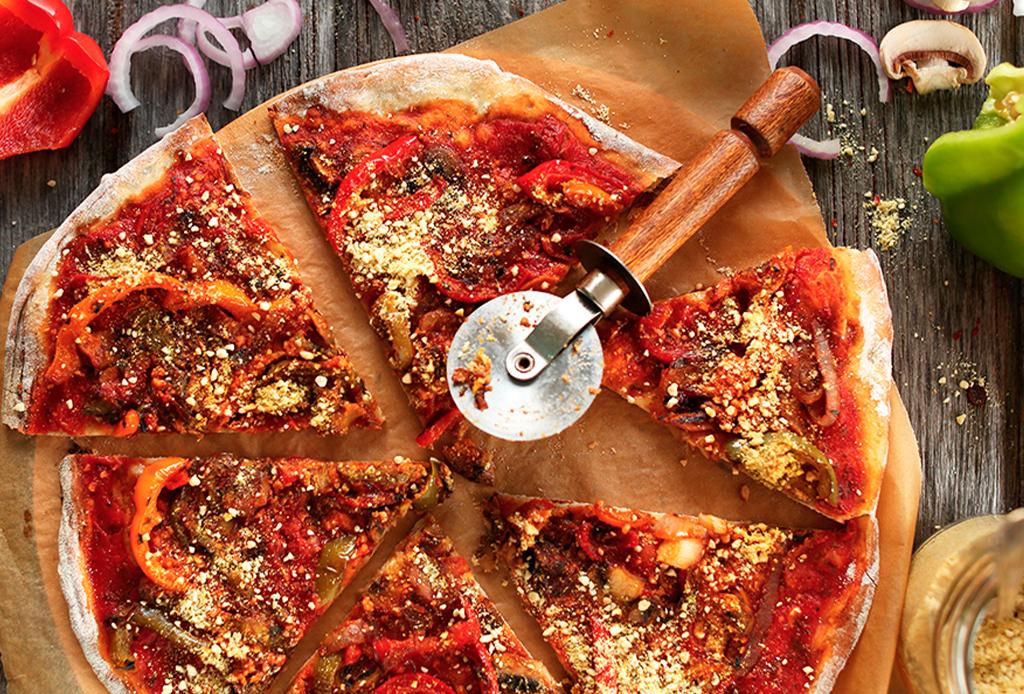 Haz una deliciosa pizza vegana con esta sencilla receta