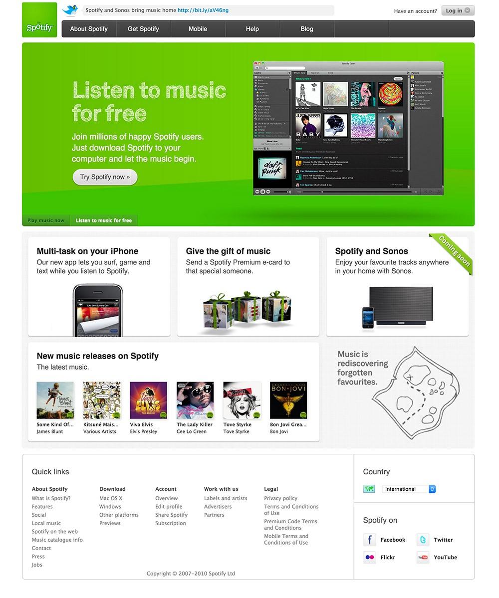 ¿Te acuerdas cuando Spotify comenzó? Así ha evolucionado con los años