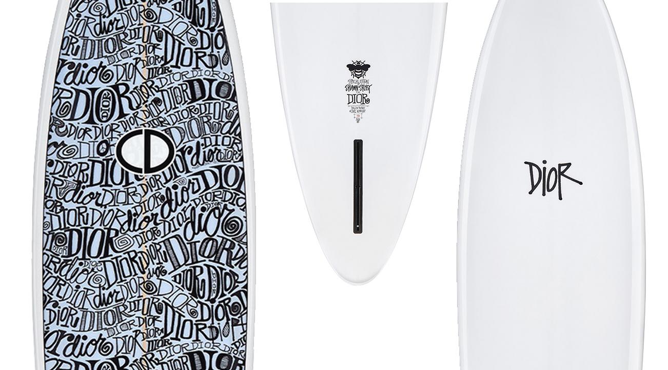 ¿Quieres surfear con estilo? Hazlo con esta tabla de surf de Dior