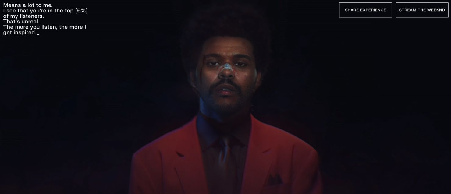 The Weeknd te da un concierto personalizado a través de Spotify