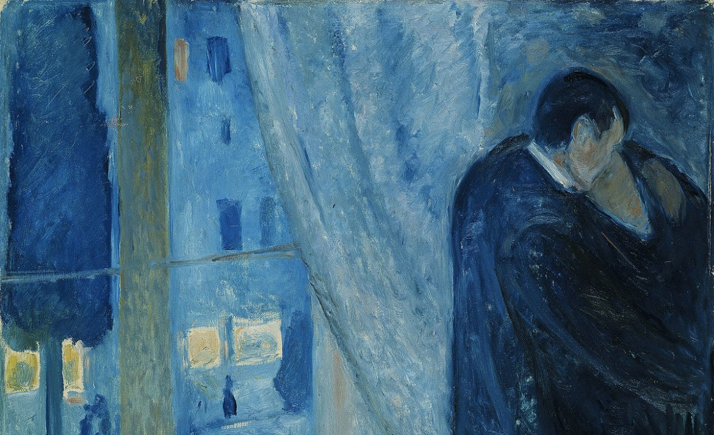 Obras de arte que los eternos románticos deberían conocer - edvard-munch-the-kiss-1