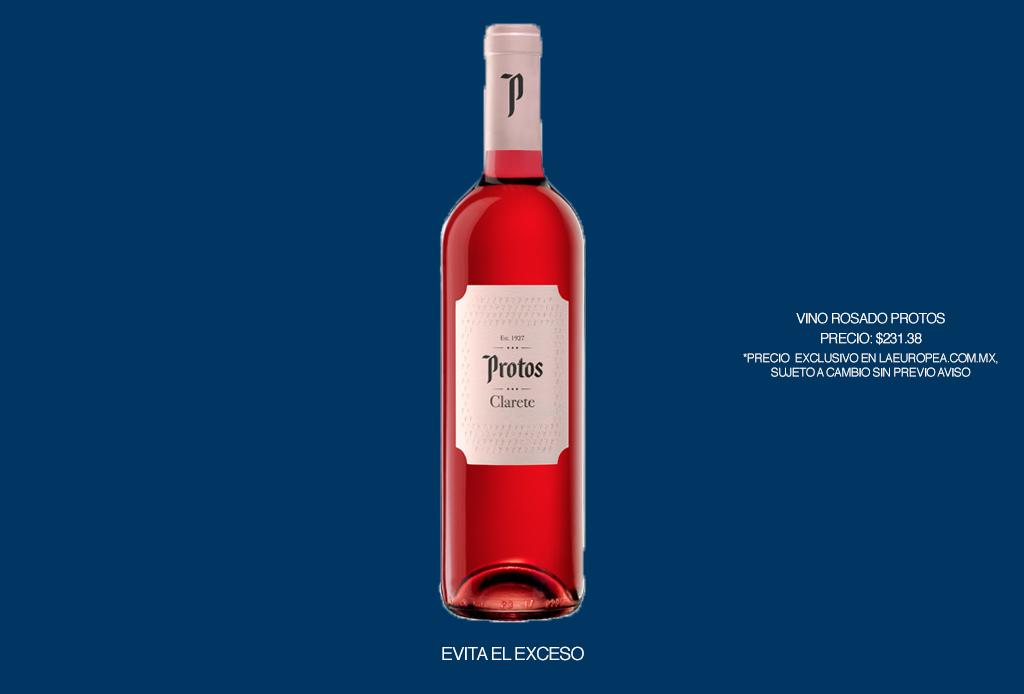 5 recetas de cocteles muy fáciles para disfrutar el verano 2020 - vino-rosado-protos-coctel-verano