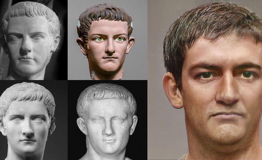 Así es como se veían realmente los emperadores del pasado - caligula-estatua-realista