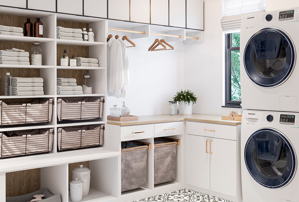 Decenas de ideas para hacer  más funcional tu lavandería en casa