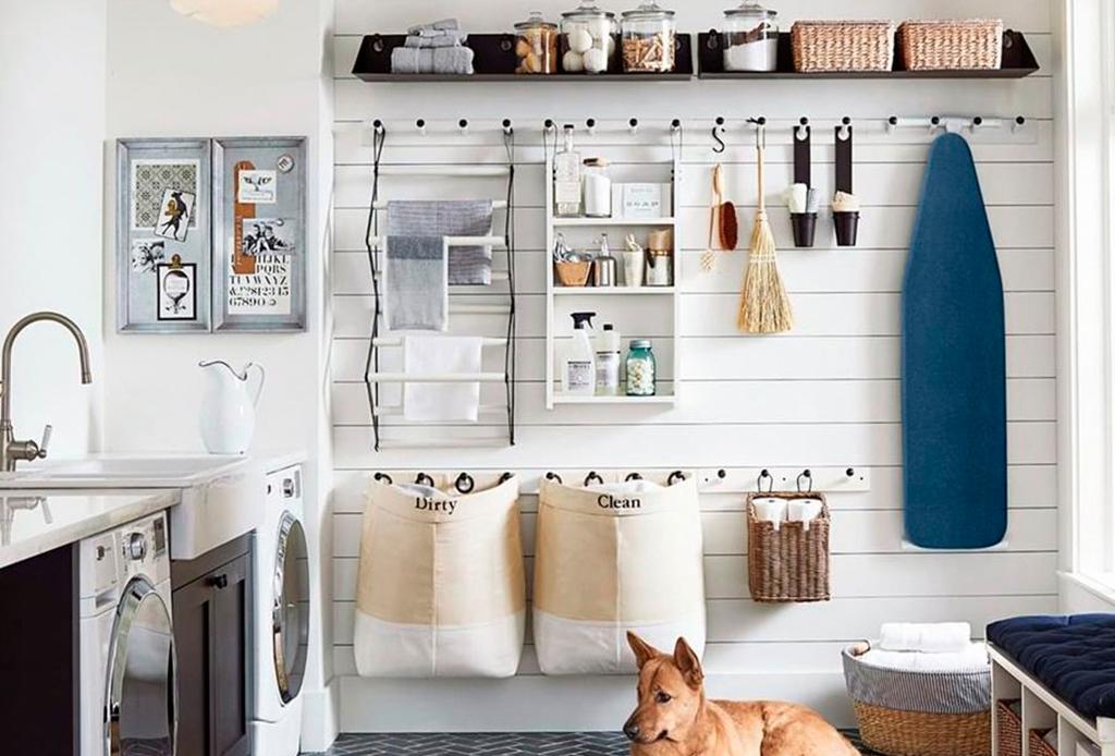 Decenas de ideas para hacer  más funcional tu lavandería en casa - lavanderia-2