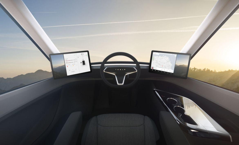 """""""Semi"""" se convertirá en el primer trailer eléctrico de Tesla - tesla-semi-interior"""