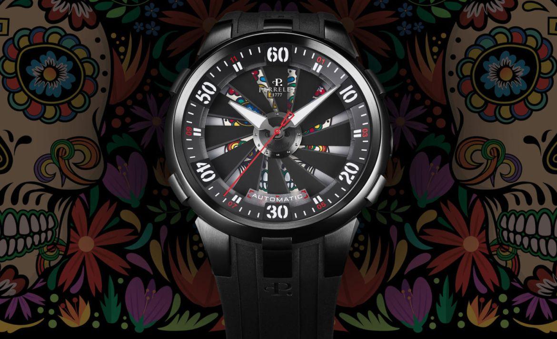 Los relojes inspirados en México que vimos en el SIAR 2020 - perrelet-turbine-skull-mexico