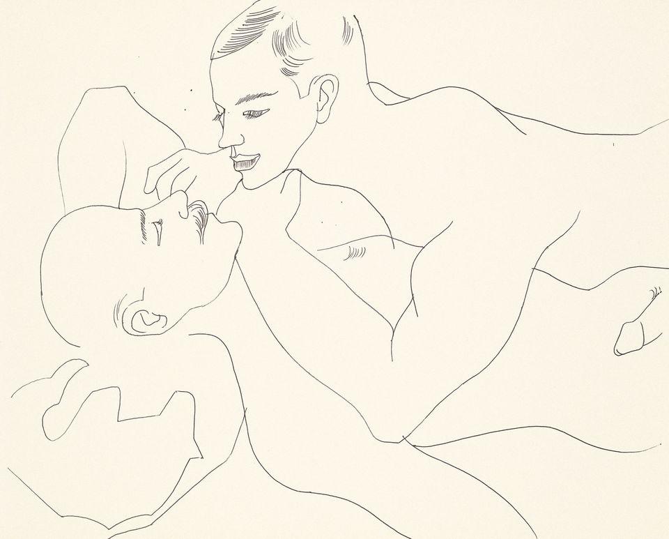 Las obras eróticas de Andy Warhol que tal vez no conocías - andy-warhol-dibujos-hombre