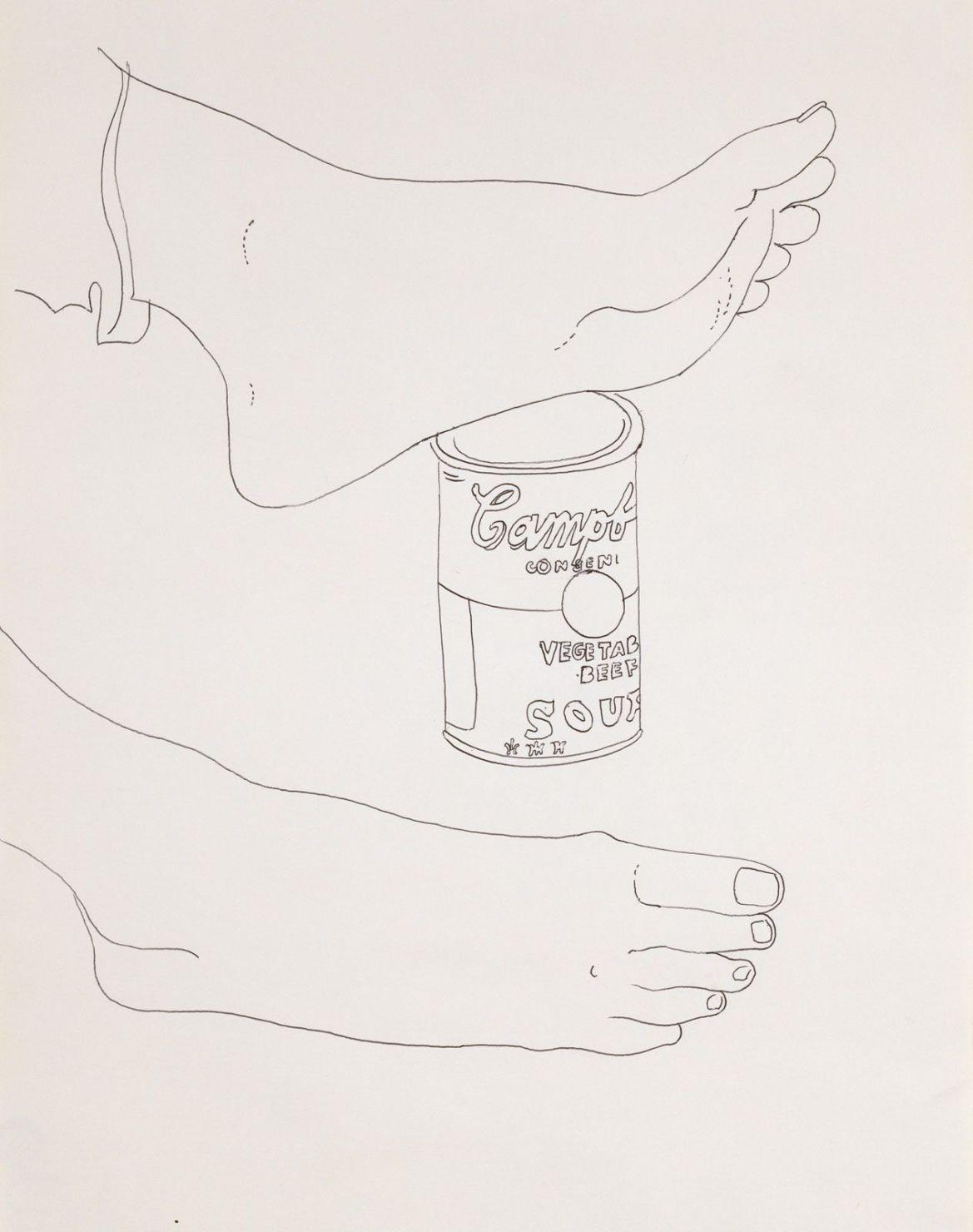 Las obras eróticas de Andy Warhol que tal vez no conocías - andy-warhol-dibujos-lata