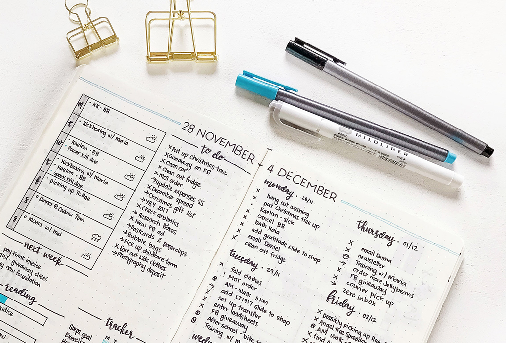 Organízate y haz tu bullet journal más cool con estas ideas - bullet-journal-2