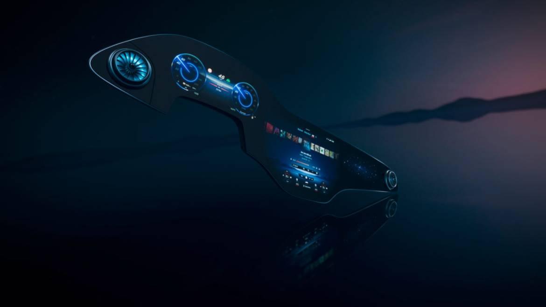 Mercedes-Benz presenta una mega pantalla inteligente en el nuevo EQS - hyperscreen-mercedes