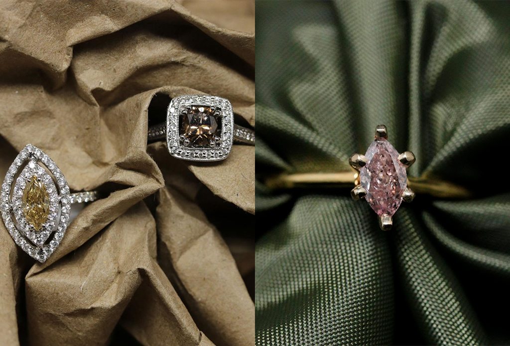 Anillos de diamantes fuera de lo común