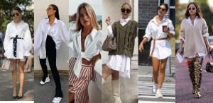 6 ideas para usar una camisa blanca y salir de la rutina