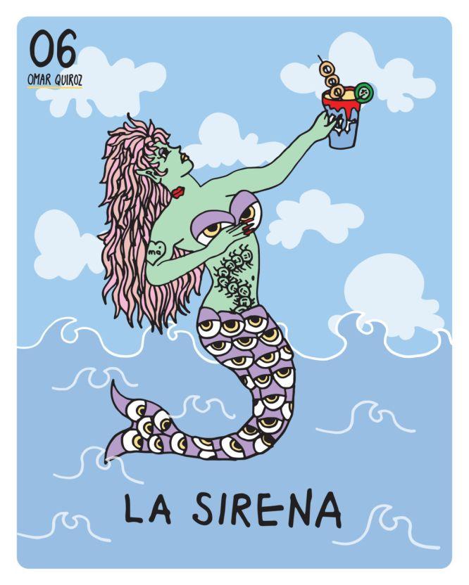Conoce la Lotería Colaborativa de The Happening con talento mexicano - la-sirena-omar-quiroz