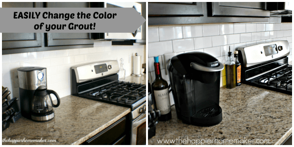 changing grout color a subway tile