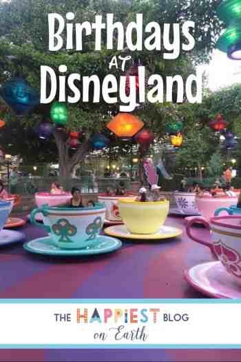 Birthdays at Disneyland