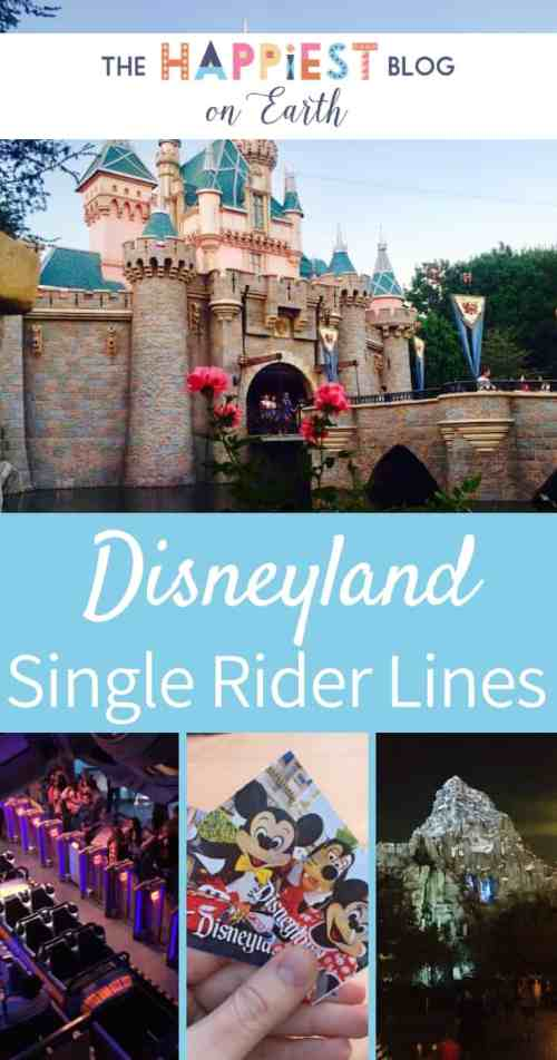 Disneyland Single Rider Lines, cut wait times and get insider tips for making the most of single rider lines at Disneyland Resort #DisneylandTips #DisneylandLines #DisneylandRides
