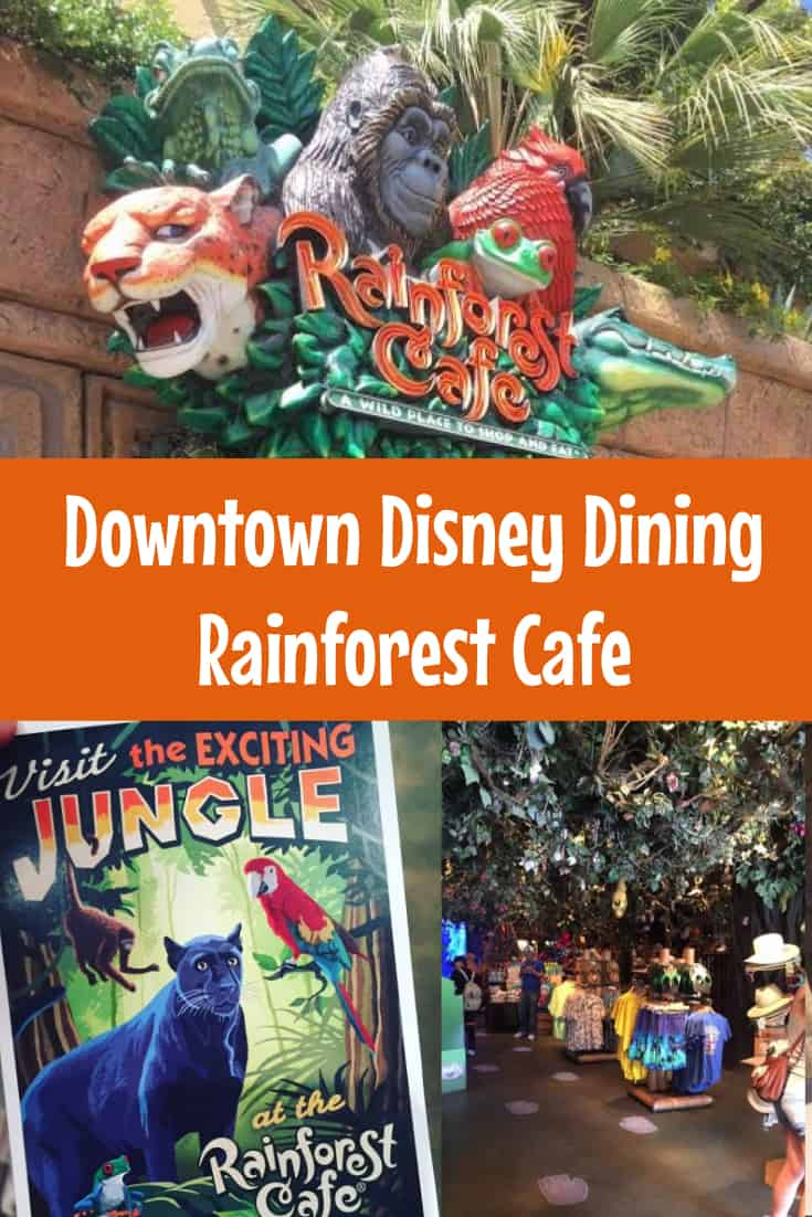 Rainforest Cafe Disneyland The Happiest Blog On Earth