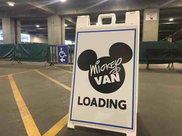 Mickey Van wheelchair parking Disneyland