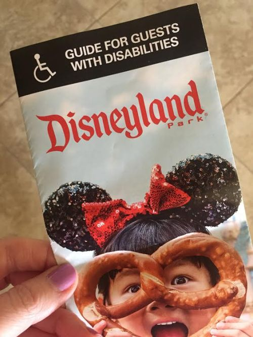 Disneyland Disability guest guide and map