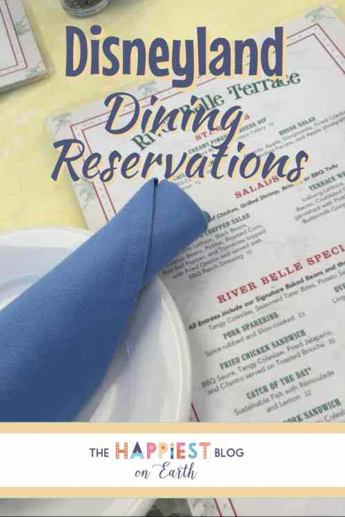 Disneyland Dining Reservations