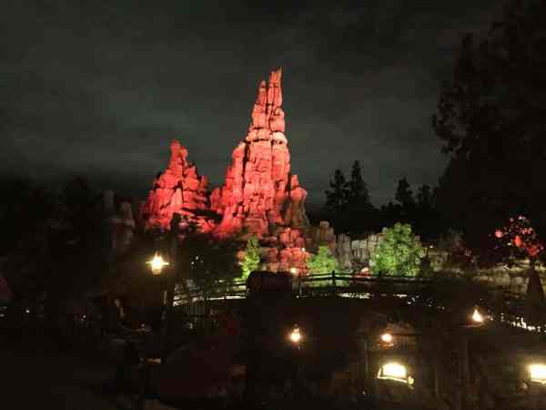 Big Thunder Mountain Railroad after dark.