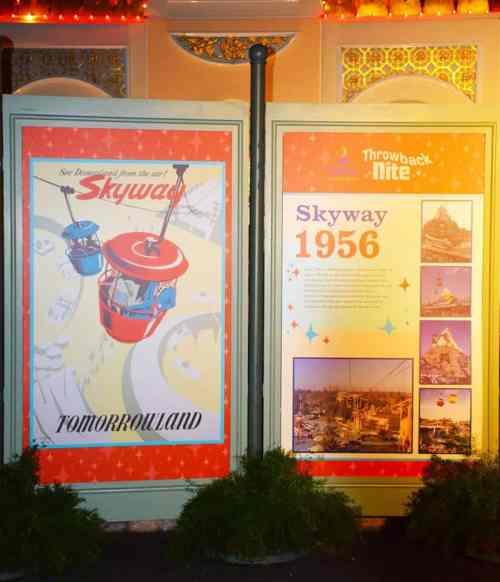 Skyway Photo Op at Disneyland After Dark. Photo courtesy of Disneyland Resort.