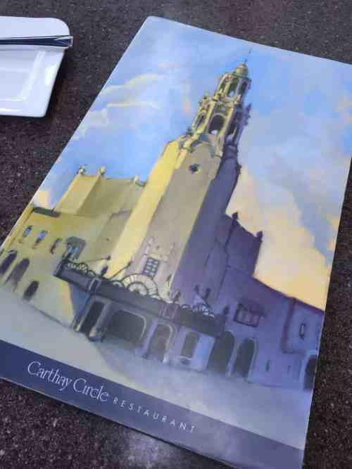 Carthay Menu cover