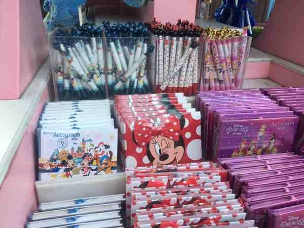 Disneyland autograph books