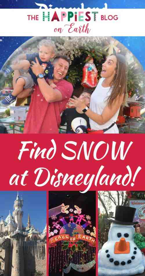 Find snow at Disneyland! See where to catch magical snowfall at Disneyland Resort this Christmas season, plus Disneyland Christmas photos to take during your visit