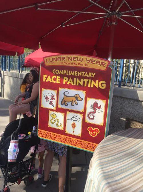 Lunar New Year face paint