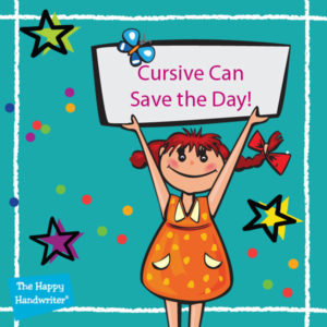 Cursive handwriting can save the day when motor skills development and handwriting have gone wrong. A new handwriting style gives the chance to start over.