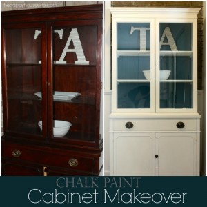 DIY Hutch Chalk Paint Makeover The Happy Housewife