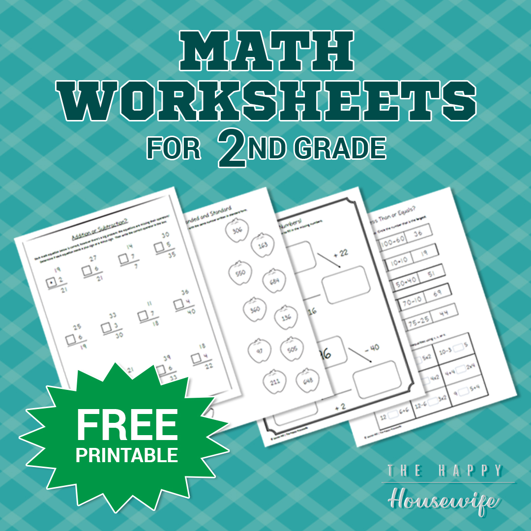 Math Worksheets For 2nd Grade Free Printables