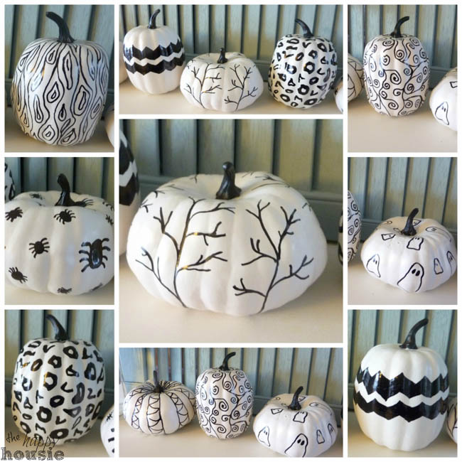 Decorate Your Pumpkins With Thumb Tacks Ghost And Painted Spider Web 1 No Carve